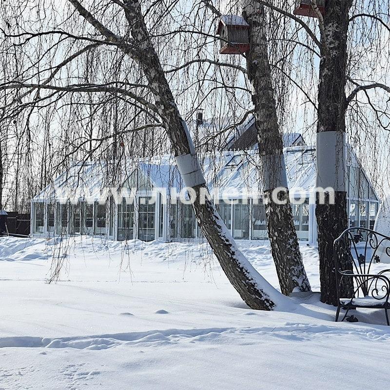Зимняя теплица с оборудованием